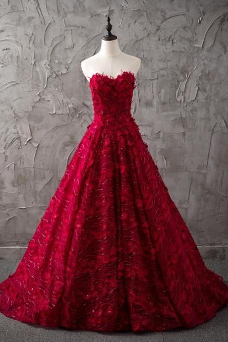 Wine red wedding dress on luulla cheap wedding dresses 2017burgundy wedding dresslace wedding dresssweetheart dress junglespirit Images