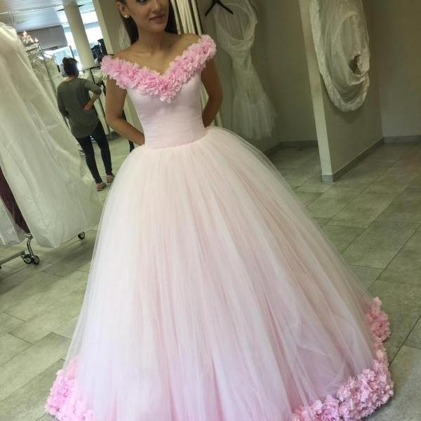 100% Real Sample Ball Gowns Wedding Dresses 2016,Cloud Wedding Dresses,Flower Wedding Dresses