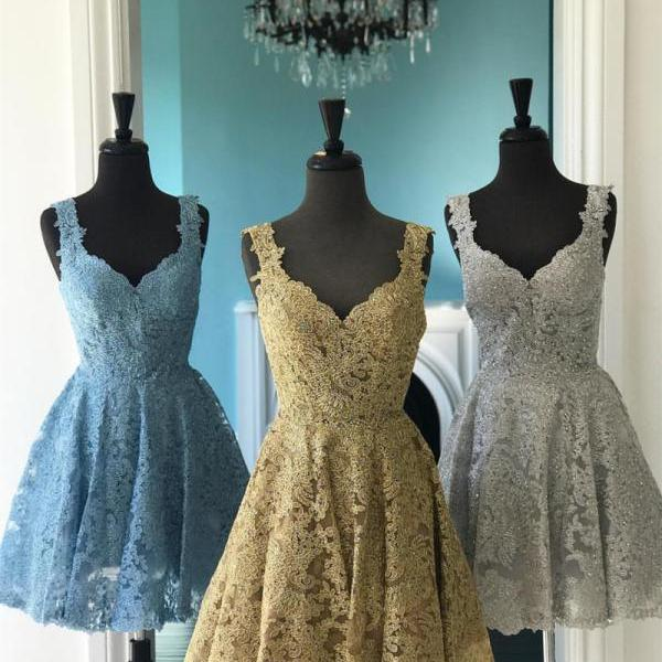 Elegant Lace Homecoming Dresses,Short Prom Dress,Semi Formal Dress,Short Party Dresses
