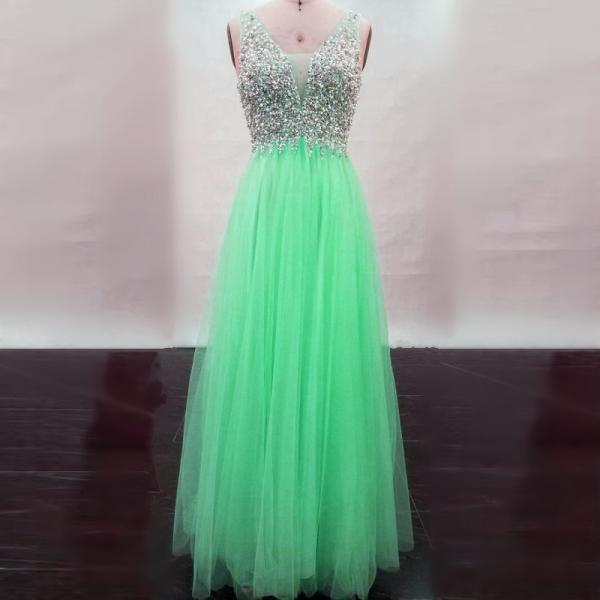 real sample prom dress,mint green prom dress, floor length evening dress,sparkly gowns,prom dresses 2017