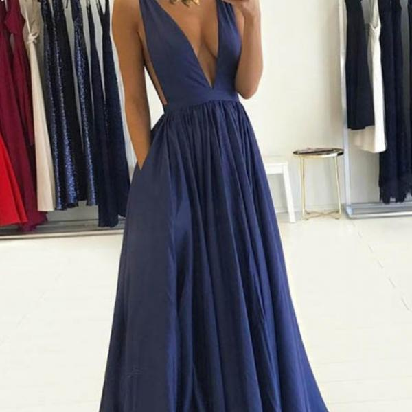 purple taffeta v neck prom dresses floor length evening gowns sleeveless long party dresses